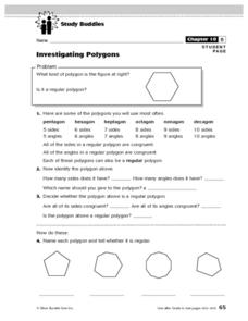 Investigating Polygons Lesson Plan