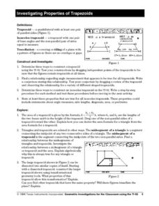 Investigating Properties of Trapezoids Lesson Plan