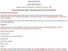 Investigating Space Requirement of Seed Plants Lesson Plan