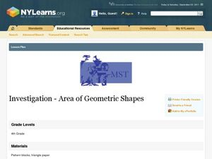 Investigation Area of Geometric Shapes Lesson Plan