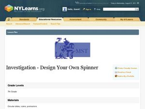 Investigation - Design Your Own Spinner Lesson Plan
