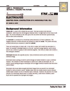 investigation electrolysis 9th 12th grade worksheet lesson planet. Black Bedroom Furniture Sets. Home Design Ideas