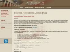 Investigation of the Warren Court Lesson Plan