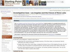Investigative Case - Los Angeles and the Future of Mono Lake Lesson Plan