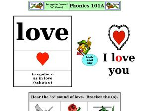 "Irregular Vowel: ""O"" (love) Worksheet"