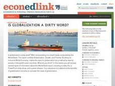 Is Globalization a Dirty Word? Lesson Plan