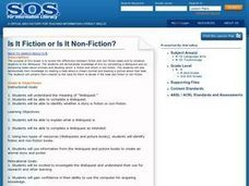 Is it Fiction or is it non fiction Lesson Plan