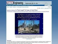 Is That Legal? A Case of Acid Rain Lesson Plan