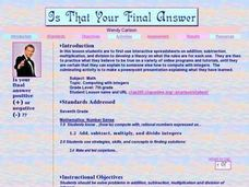 Is That Your Final Answer? Lesson Plan