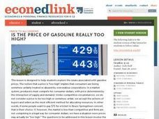 Is the Price of Gasoline Really Too High? Lesson Plan