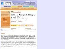 Is There Any Such Thing As A Just War? Lesson Plan
