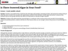 Is There Seaweed/Algae in Your Food? Lesson Plan
