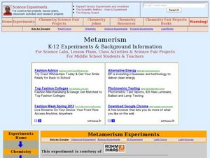 Is Your Blue Really Blue? [Metamerism] Lesson Plan