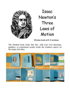 isaac newton s three laws of motion 6th 9th grade printables template lesson planet. Black Bedroom Furniture Sets. Home Design Ideas