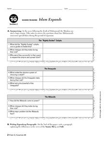 Islam Expands Worksheet