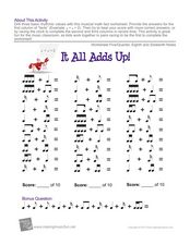 It All Adds Up Worksheet