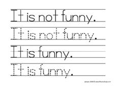 It is Not Funny. Worksheet