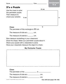 It's a Puzzle: Enrichment Worksheet