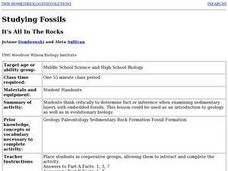It's All in the Rocks Lesson Plan
