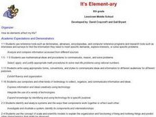 It's 'ELEMENT' ary Lesson Plan