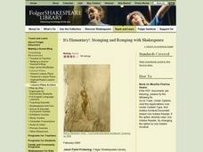 It's Elementary!: Stomping and Romping with Shakespeare Lesson Plan