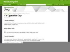 It's Opposite Day Lesson Plan