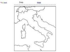 Italy Outline Map Worksheet