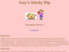 Izzy's Sticky Pig Lesson Plan