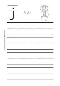 J is for Jack-in-the-Box. Worksheet