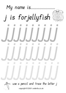 J is for Jellyfish Worksheet