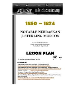 J. Sterling Morton: A Life of Service Lesson Plan