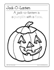 Jack-O-Lantern Worksheet