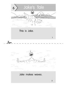 Jake's Tale  Beginning Reader Booklet Worksheet