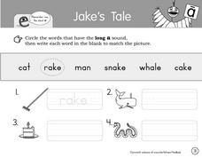Jake's Tale Worksheet