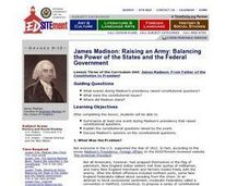 James Madison: Balancing State and Federal Government Lesson Plan