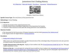 Jamestown Fort: Finding History Lesson Plan