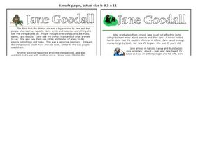 Jane Goodall Worksheet