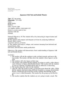 Japanese Folktale and Kabuki Theatre Lesson Plan