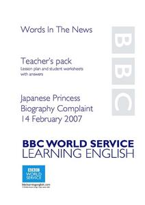 Japanese Princess Lesson Plan
