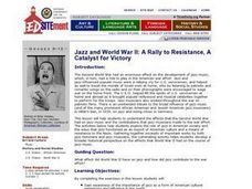 Jazz and World War II: A Rally to Resistance, A Catalyst for Victory Lesson Plan