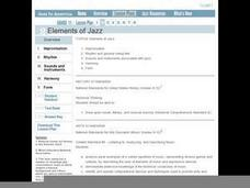 Jazz in America Lesson Plan 2 Lesson Plan