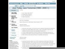 Jazz in America Lesson Plan 8 Lesson Plan