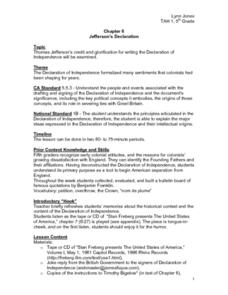 Jefferson's Declaration Lesson Plan