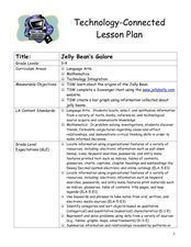 Jelly Bean's Galore Lesson Plan