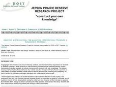 JEPSON PRAIRIE RESERVE RESEARCH PROJECT Lesson Plan