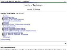 Jewels of Endurance Lesson Plan
