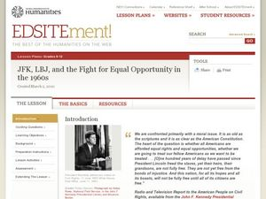 JFK, LBJ, and the Fight for Equal Opportunity in the 1960s Lesson Plan