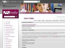 Jim's Table Lesson Plan