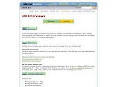 Job Interviews Lesson Plan
