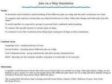 Jobs on a Ship Lesson Plan